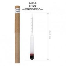 Ареометр (спиртометр) - АСП-3 (0-40%об.)
